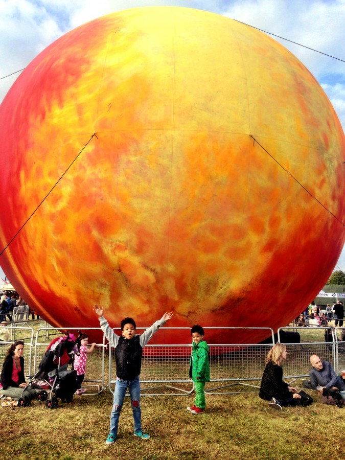 On Blackheath Festival giant sun