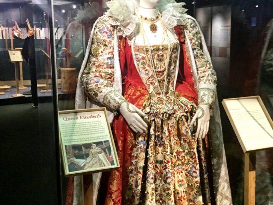 Shakespeares Globe Exhibition Queen Elizabeth costume