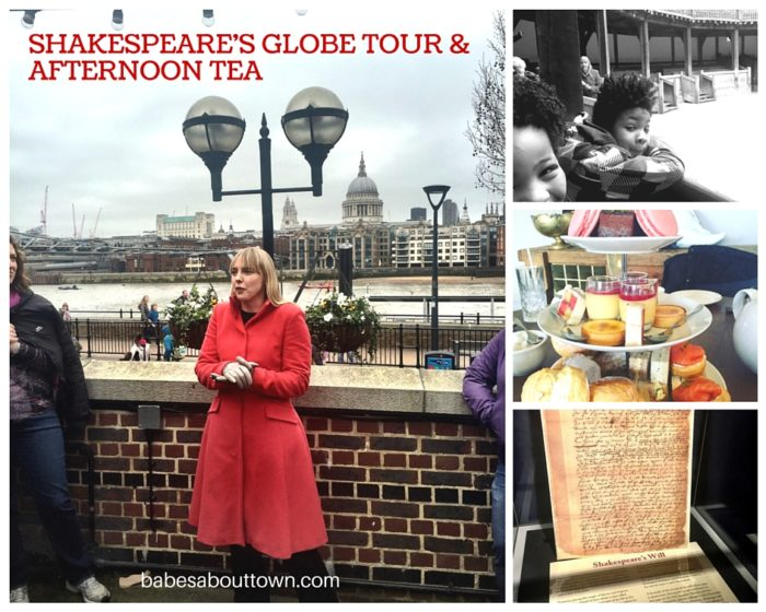 Shakespeares Globe tour and afternoon tea