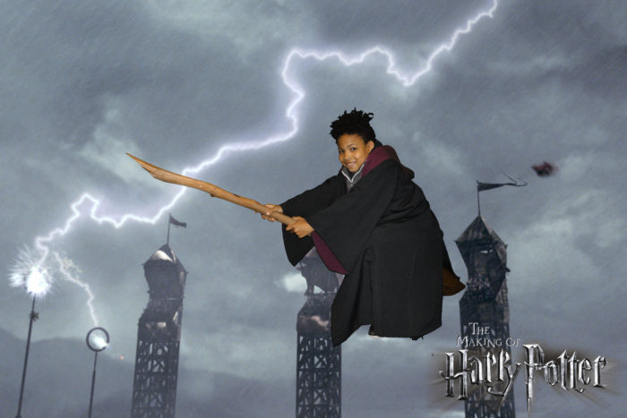 Ezra flying Harry Potter