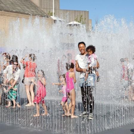 Festival of Love Jeppe Hein fountains
