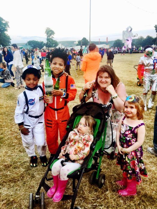Camp Bestival 2016 Amber and kids