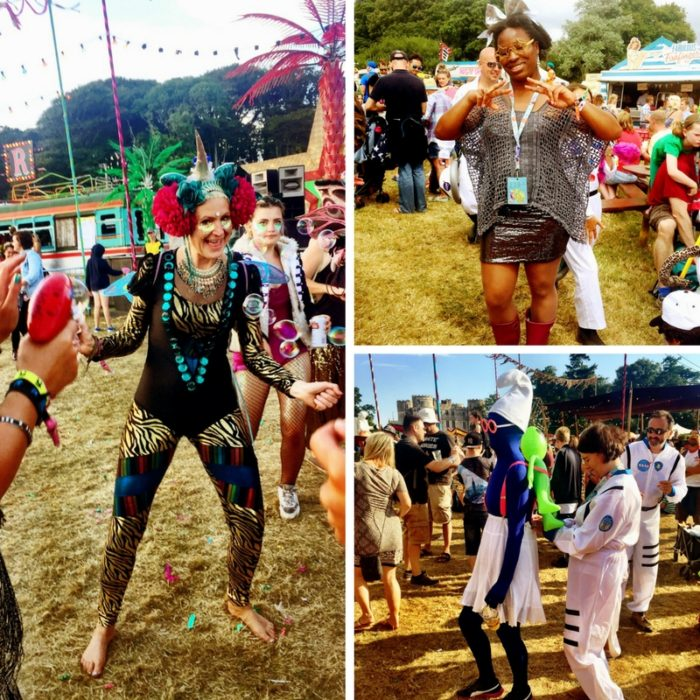 Camp Bestival 2016 space costumes