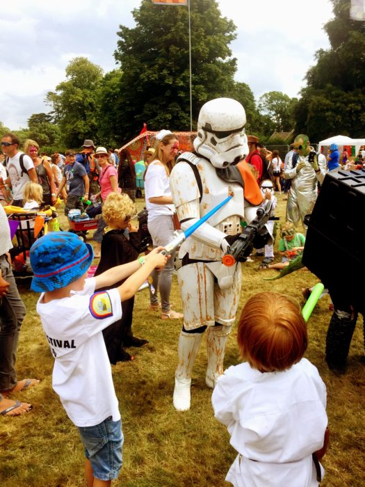 Camp Bestival 2016 storm trooper