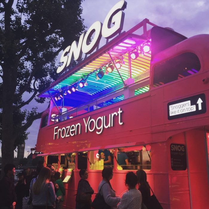 Southbank Centre Snog Frozen Yoghurt bus