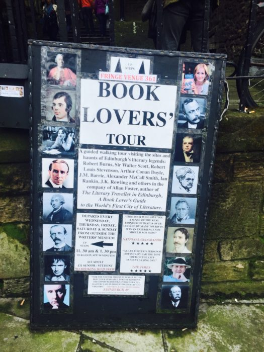 Edinburgh Fringe book tour