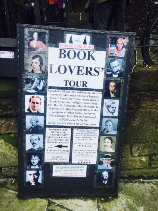 Edinburgh Fringe book tour