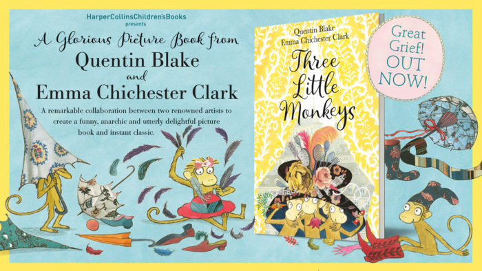 Three Little Monkeys Quentin Blake and Emma Chichester Clark