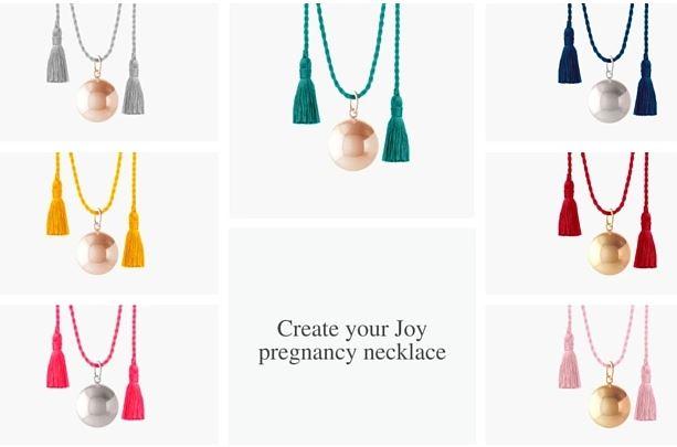 Ilado Paris pregnancy necklace collection