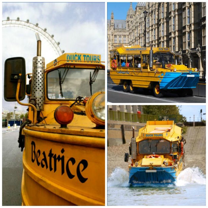 London Duck Tours collage