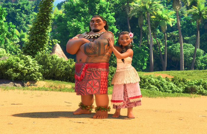 Moana's parents Chief Tui and Sina