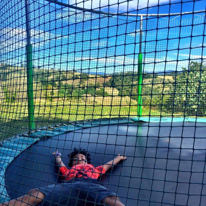 Villa Pia trampoline