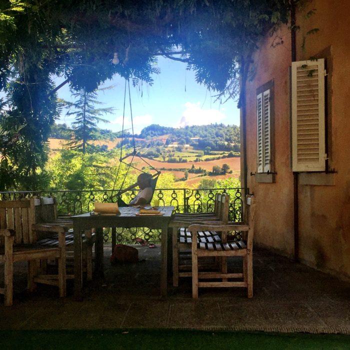 Villa Pia hammock in courtyard
