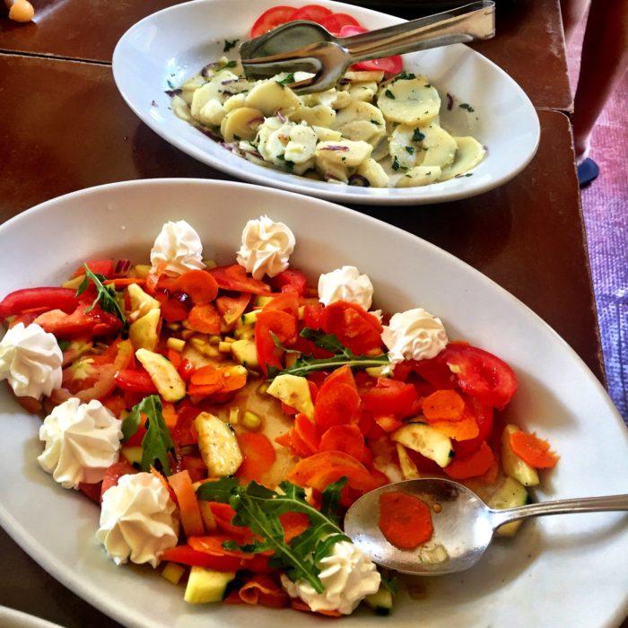 Villa Pia lunch dish