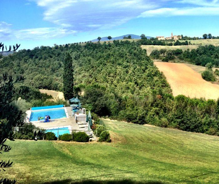 Villa Pia poolside views