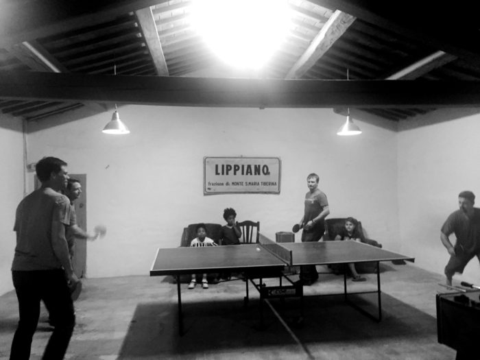 Villa Pia ping pong tournament