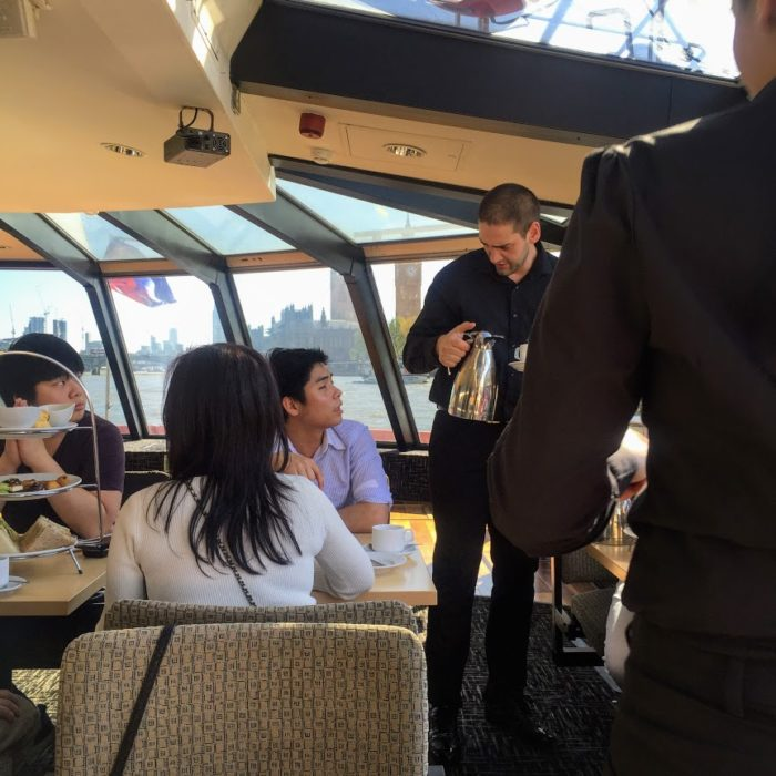 City Cruises afternoon tea tour waiters
