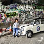 London Kids Mini Cooper Tour Leake St tunnel graffiti shot