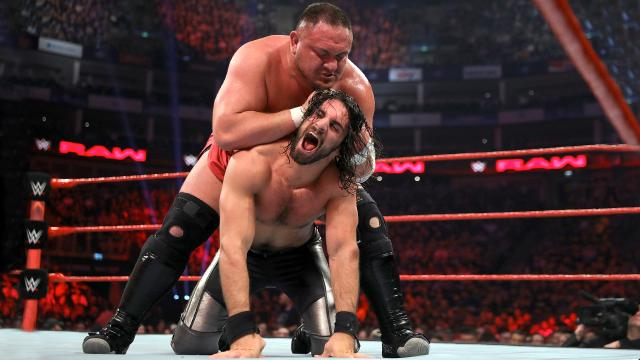 WWE RAW Samoa Joe v Seth Rollins