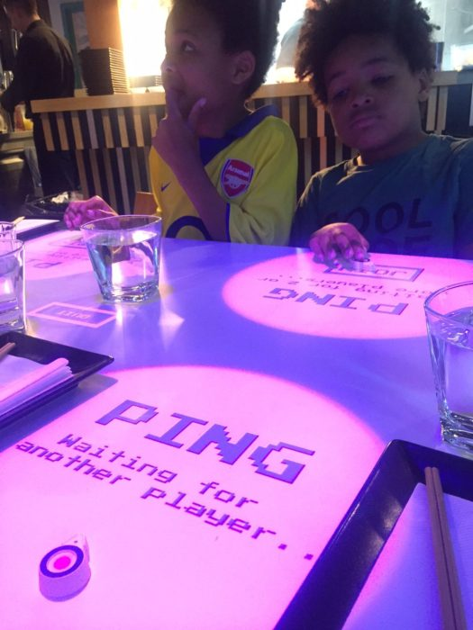Inamo Camden table games Ping