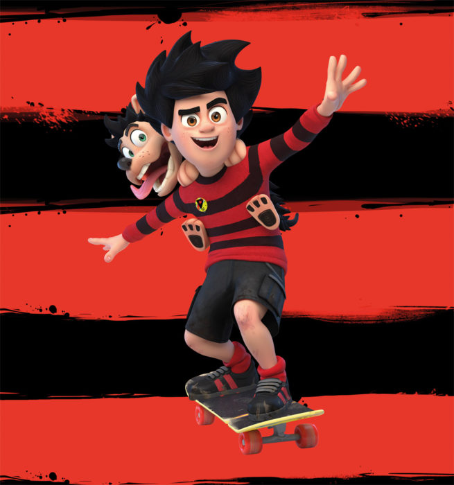 Dennis and Gnasher at Bay Sixty 6