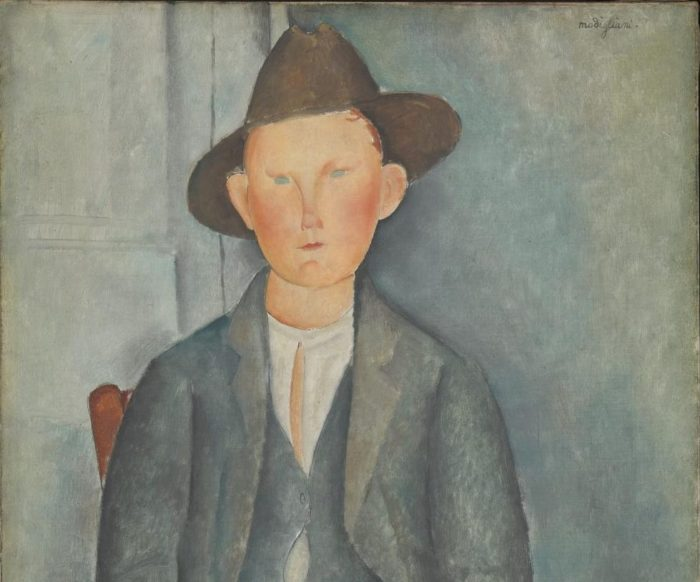 The Little Peasant c.1918 by Amedeo Modigliani 1884-1920