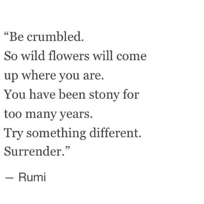 Rumi surrender