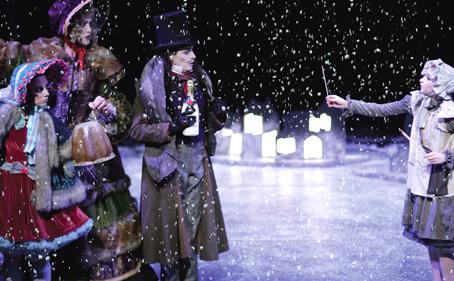 The Little Match Girl snow scene