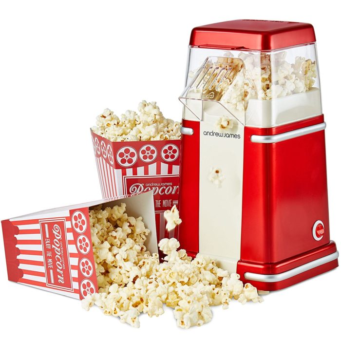 Win Andrew James Retro Hot Air Popcorn Maker #12DaysXmas2017