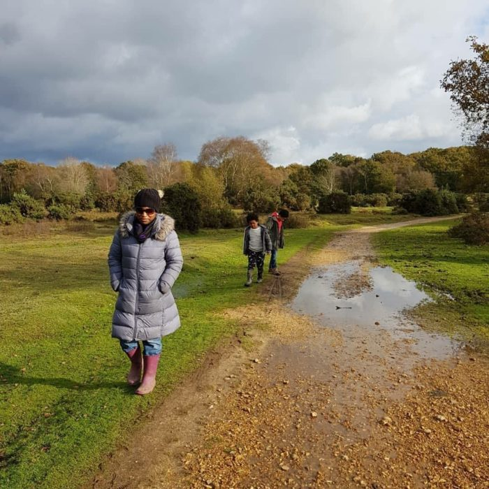Autumn strolls with family New Forest