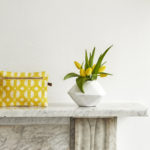 Eva Sonaike aluro make-up bag yellow mood