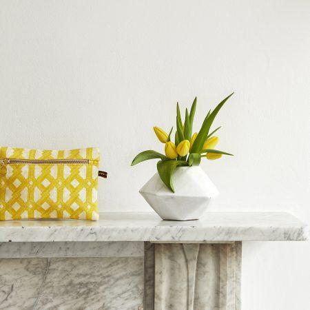 Eva Sonaike aluro make-up bag yellow mood