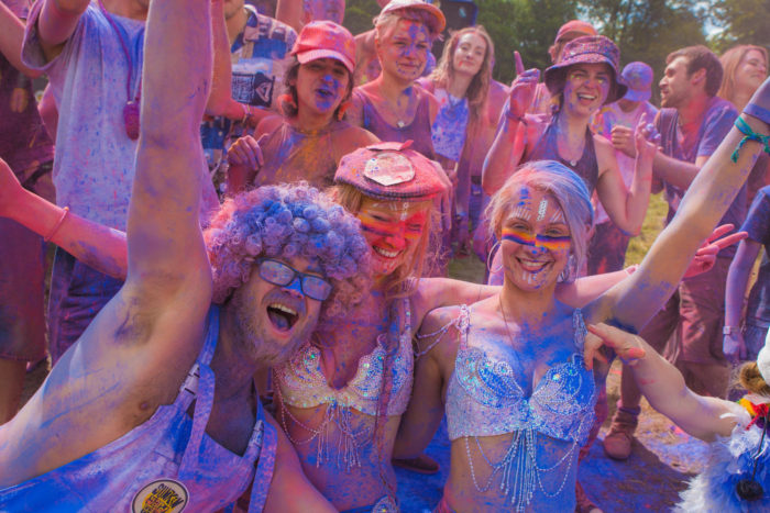 Nozstock colourful people 2017 - credit Nimbus Events
