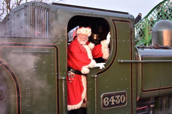 Santa Special steam train