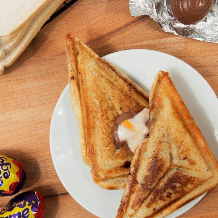 Caburys Cream Egg toastie Creme Egg Camp