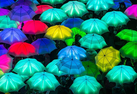 Lumiere London Cirque Bijou Umbrella Project