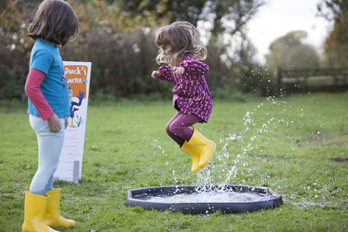 Puddle Jumping at London Wetlands Centre