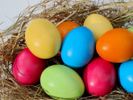 Easter egg hunts colourful