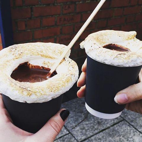 Fatties Bakery hot chocolate meringue
