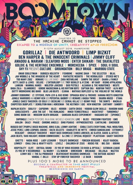 Boomtown Chapter 10 lineup