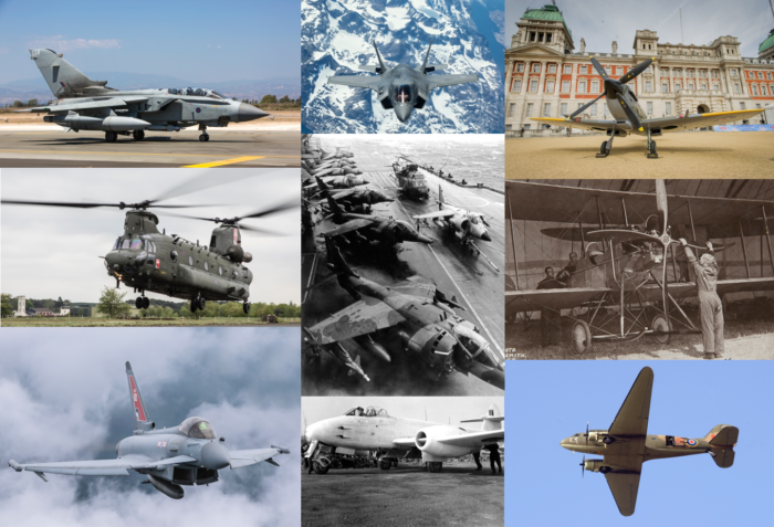 RAF Aircraft tour collage