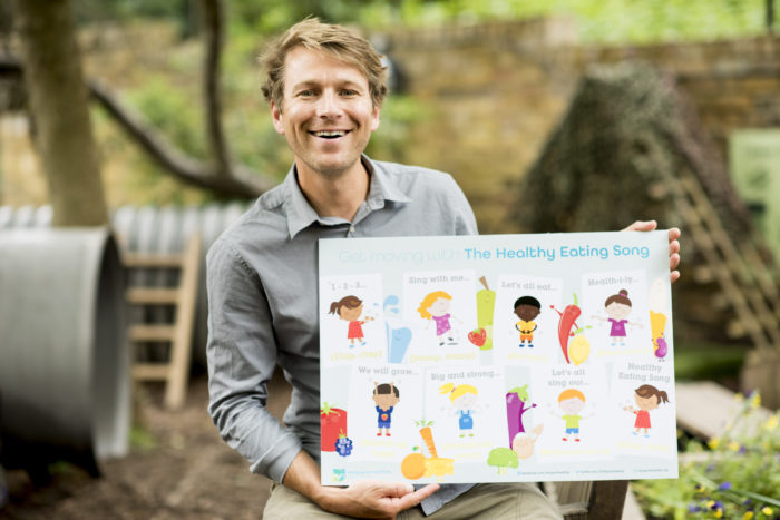 Ben Faulks aka Mr Bloom from CBeebies and the Healthy Eating Song