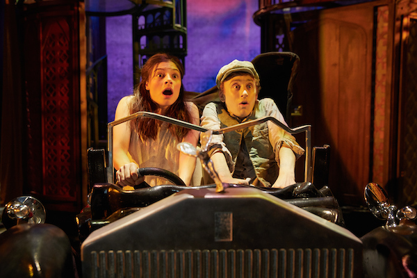 Awful Auntie by David Walliams with Georgina Leonidas (Stella), Ashley Cousins (Soot). Credit Mark Douet