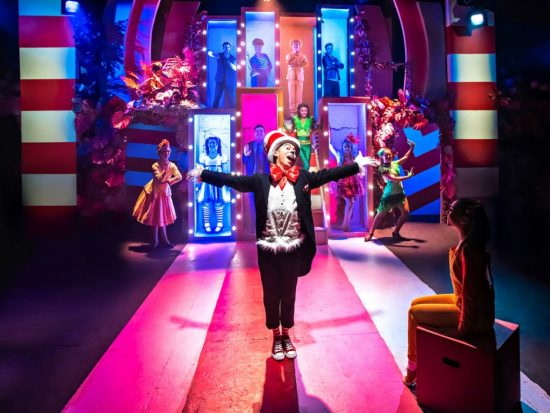 Marc Pickering and the cast of Seussical The Musical, Southwark Playhouse - courtesy of Adam Trigg