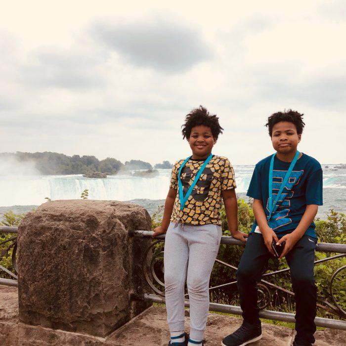 Boys at Niagara Falls