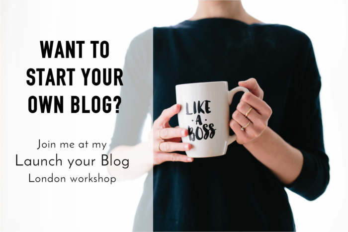 Launch Your blog workshop button