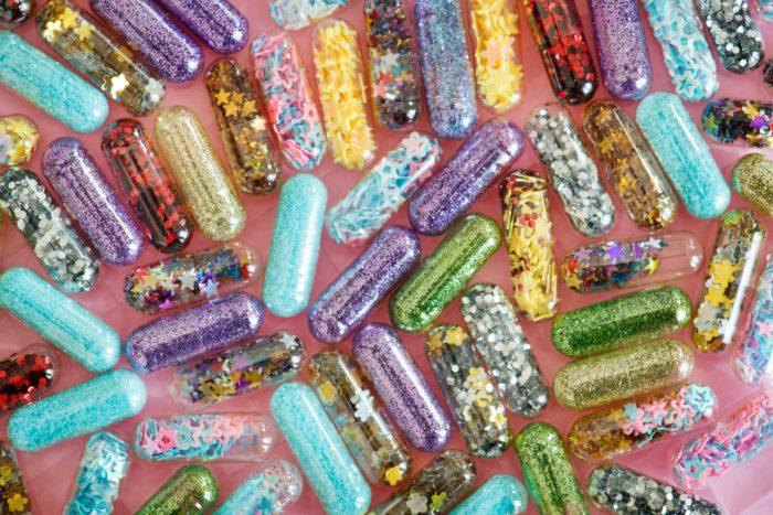 Sparkly pills