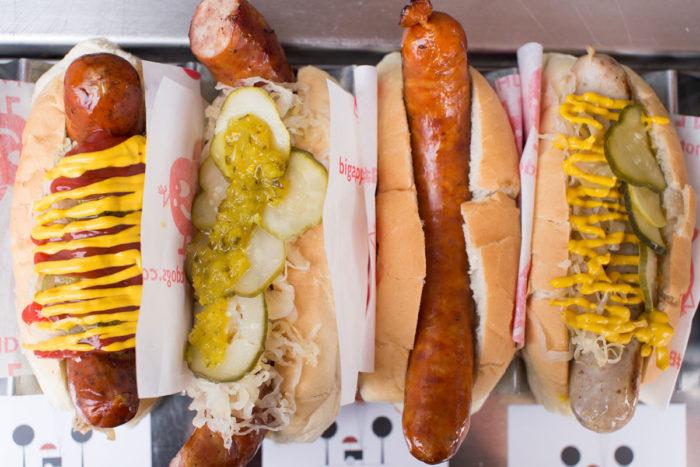 BAHD hotdogs in buns