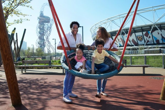 Family summer at QE Olympic Park