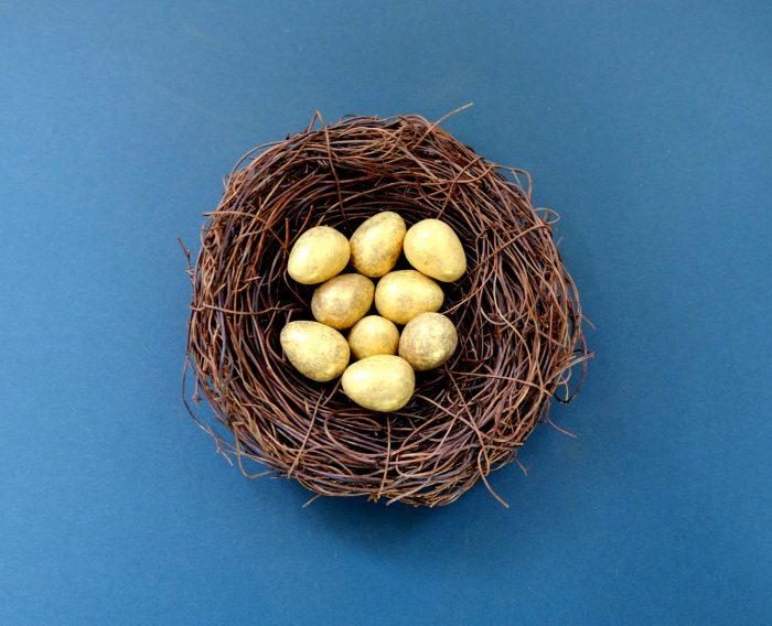 Easter eggs gold
